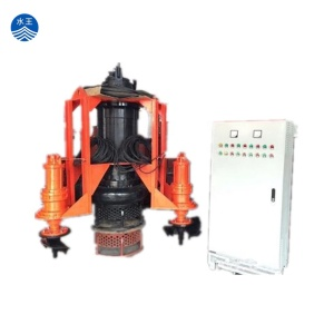 22kw electric sea sand submersible dredging slurry pump