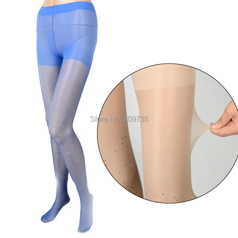 12eea04e3d5 Get Quotations · 2015 Hot Sell Sexy Womens ladies BASIC Stretch Thin Bling  Crystal Rhinestone Pantyhose Tights Stockings 12