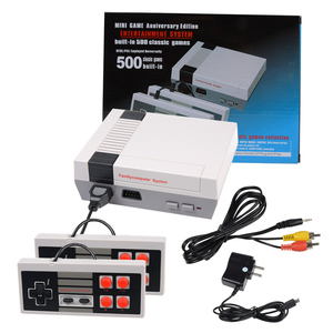 Mini Retro Classic Game Consoles Built-in 500 Childhood Classic TV Video Games Dual Control 8-Bit Console Handheld Game Player