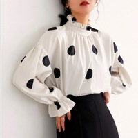 Fashion womens tops and blouses Female Casual Matching Color Long Sleeve Button Loose Plaid Shirt Top Blouse