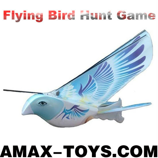 rm-8472345 rc bird Hot sale remote control flying bird + flapping wings+lifelike flapping wings (with an infrared gun)