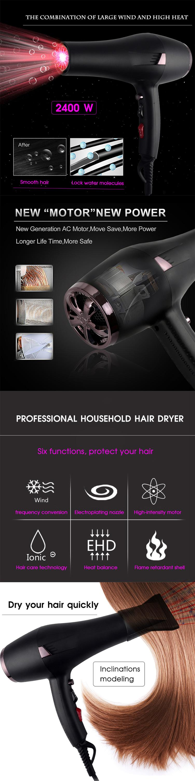 Professional Salon Tools Blow Dryer Heat Super Speed Blower Dry Hair Dryers
