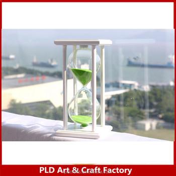 Custom Green Wooden Frame Sand Clock 30 Minutes Black Wooden ...