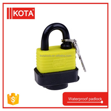 yellow waterproof iron 30mm keyed lock