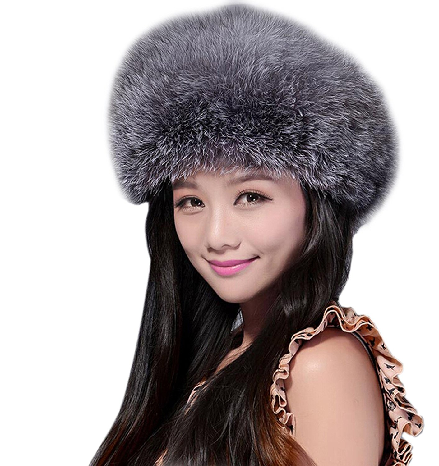 49561ddecb2034 Buy Fox Fur Trapper Style Ushanka Hats Zimushka with Poms in Cheap ...