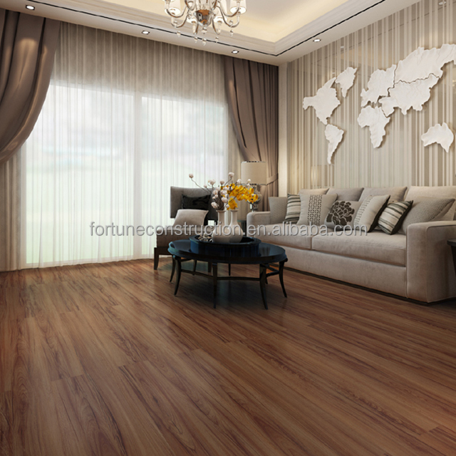 Hot sale 5mm anti-slip click system antique pvc flooring plank