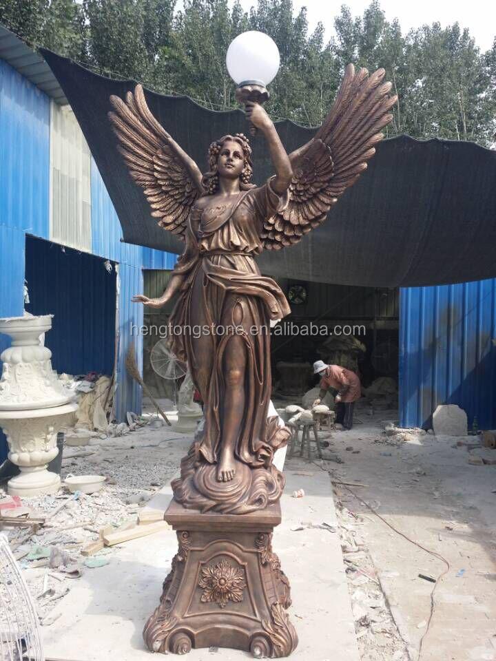 Life Size Fiberglass Angel Statue With Lamp Buy Fiberglass Statue Fiberglass Angel Statue Life