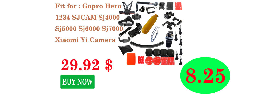 Gopro Hero 4 Hero3 Sj4000 Sj5000 Sport  Camera Accessories Kit With Gopro