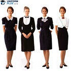 New style fashionable design elegant hotel uniform for reception wait staff