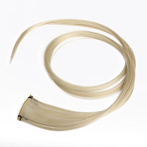 Прямо клип на парик волос прямые наращивание волос личности панк длинные светло-русый