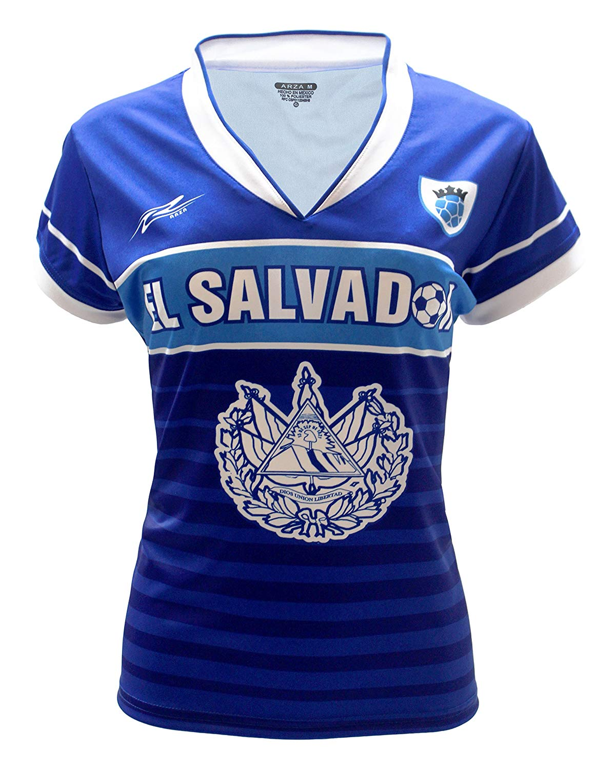 fef286697 Get Quotations · Arza Sports El Salvador Slim Women Soccer Jersey Exclusive  Design