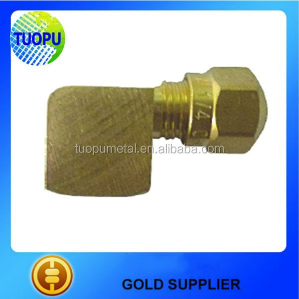 China high quality brass fittings, air brake fitting for nylon tube, 970 female elbow