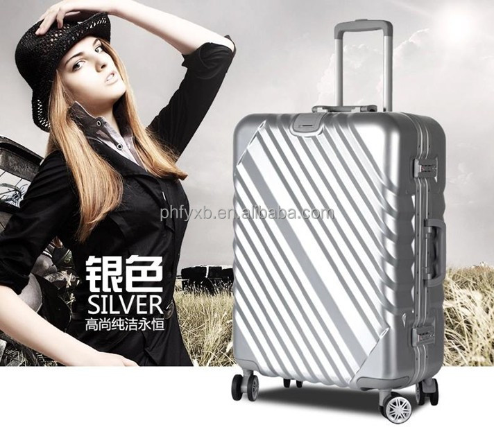 travelling abs PC crown international luggage bags suitcase factory price for men, lady and kids with cute printing