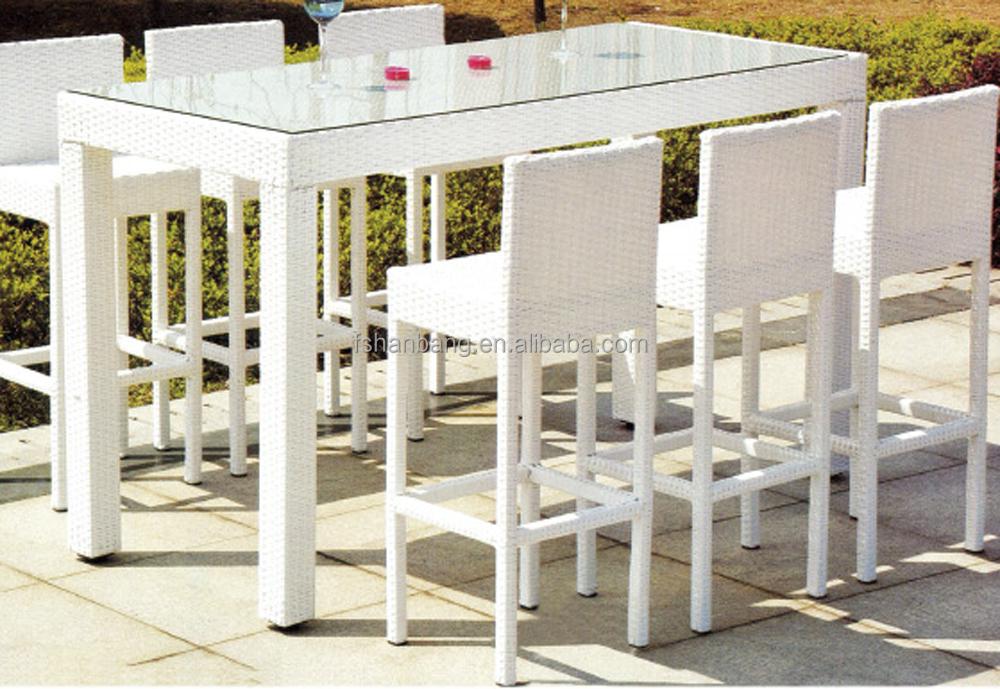 new design hotsale modern synthetic plastic rattan bar stool high chair
