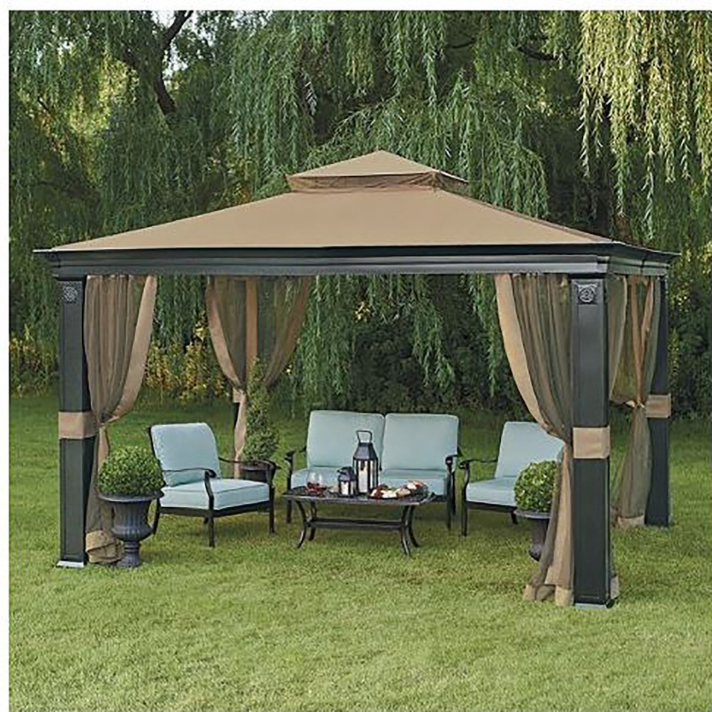 Get Quotations · 10 X 12 Fremont Patio Gazebo With Mosquito Netting