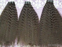 Temple Indian hair from donate by single donors bulk for braid