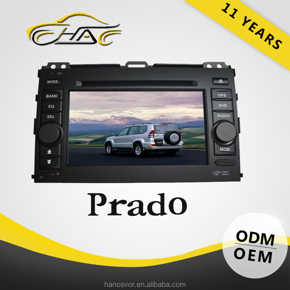 Autoradio dvd 2 din car dvd player gps toyota prado navigation system