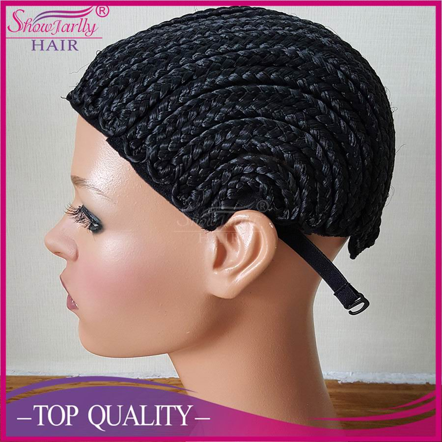 Most fashionable cornrow wig caps for making wigs with braided hair weft on bulk lace wigs