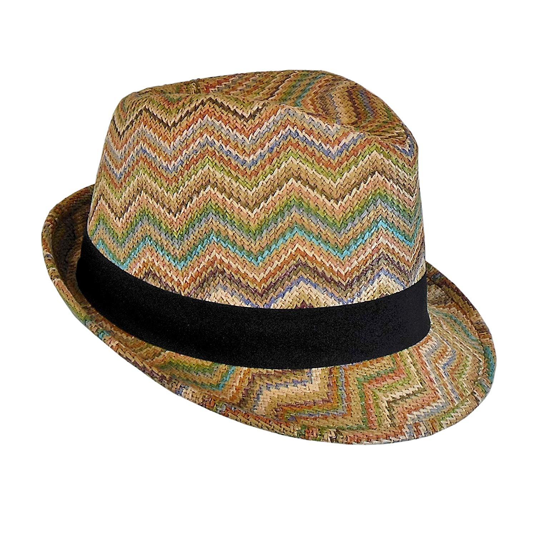 87ac8b75772 Get Quotations · Bohemian Summer Straw Fedora Hat for Women