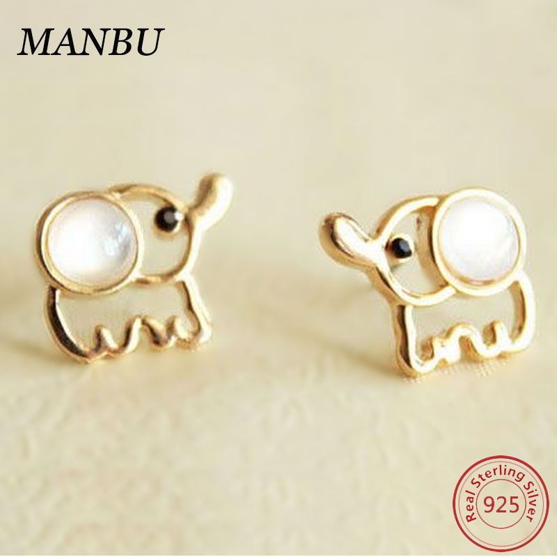 Fashion Earring Designs 925 Sterling Silver Cute Baby Elephant Ear Studs New Model Earrings