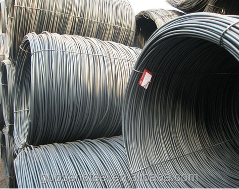 high quality carbon mild black steel wire rod coil/5.5mm--16mm steel wire rod coil/
