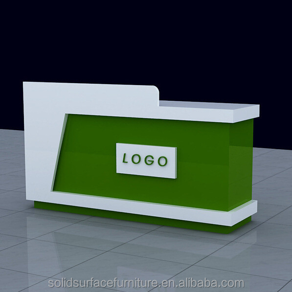 Solid Surface Stone Reception Counter Modern Shop Cash  Man-made Stone Modern Shop Counter Design For Garment ...