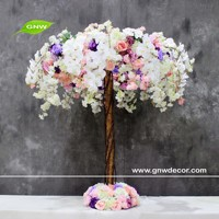 GNW purple artificial latex flowers orchids wholesale silk flowers from china for wedding decoration