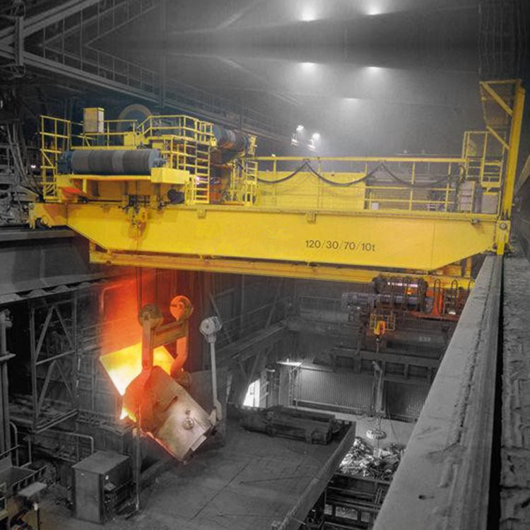 China 75/20~160/40t Four Beam Casting Foundry Overhead