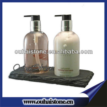 Two Holes Liquid Soap Bottle Holder Slate Bathroom Accessories