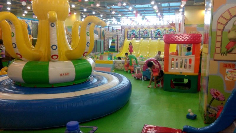 Small commercial children soft indoor playground