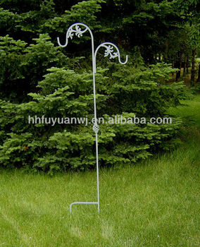 Delightful Metal Garden Hanging Basket Shepherd Hook