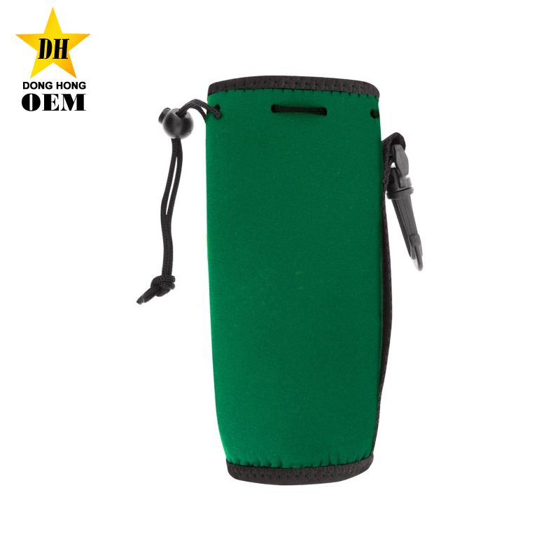 cheap custom logo neoprene insulated water bottle carrier with strap