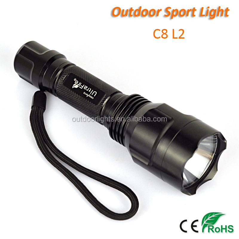 C8 L2 Tactical Military LED Torch Light