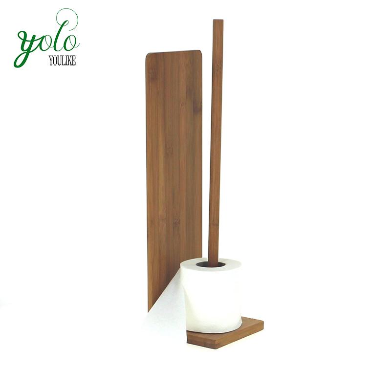 Gut Bambus Freistehende Toilettenpapier Reserve Rolle Lagerung Halter
