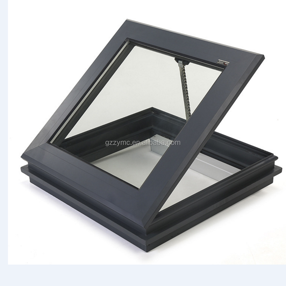 aluminum tube sun tunnel skylight with glass and motor