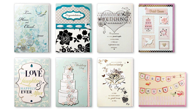 assorted wedding cards box set 8 pack handmade embellished wedding anniversary cards bridal shower cards