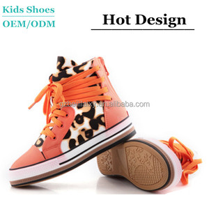 OEM high top kids sneakers children casual sheos high cut unisex sports shoes