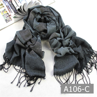 A106-C Newest hot selling fashion double weave knit jacquard scarf