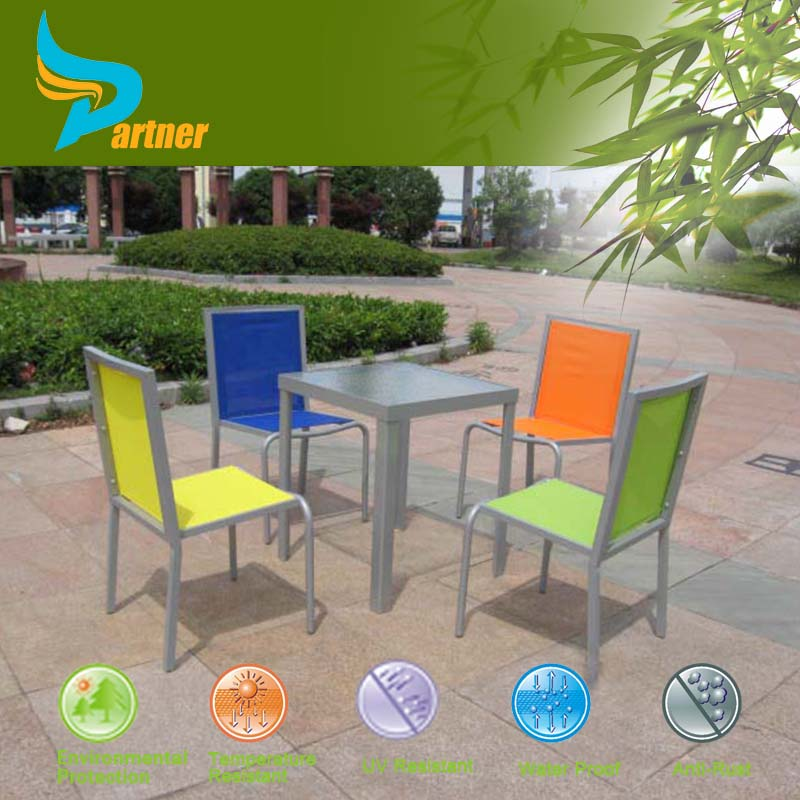 2015 New Arrival Wholesale Use High Quality Cheap Dinning Square Table Sala Sets Tall Garden Furniture Set Plastic