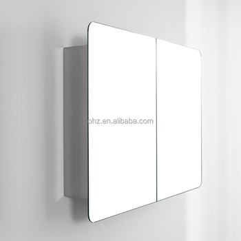 doulble sliding doors side cabinet stainless steel bathroom mirror cabinet