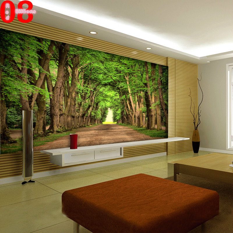 Living Room Wallpaper Tree Scenery Photo Wallpapers Nature