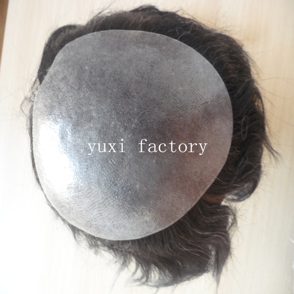 Top Quality Remy Human Hair Toupee for Men Thin Skin