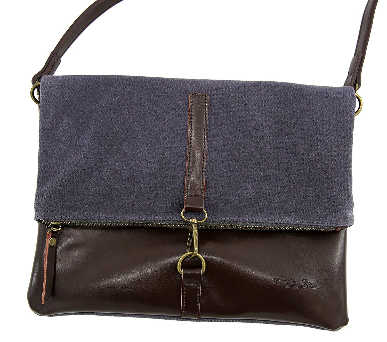 Messenger Bags Angelina's Palace Shoulder Bag Waterproof Bag Leather Strap Shoulder Bag for Women Wax Canvas Messenger Bag for Office /School /Work /Travel/Shopping 17304