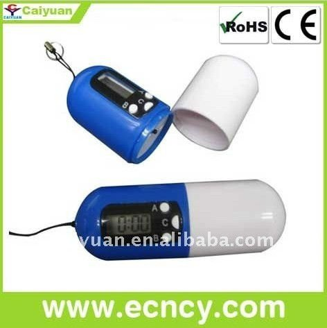 Small compartment containers Electronic pill dispenser with alarm