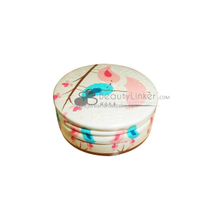 Lipstick tin makeup box, custom tin printed box for blusher, concealer, your own brand cosmetic tin box