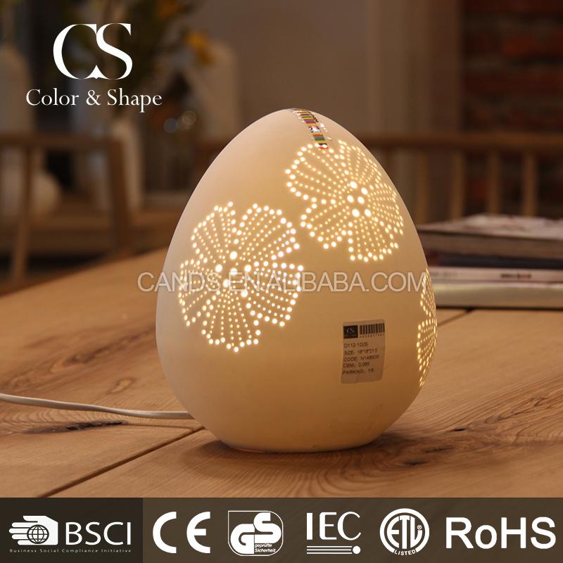 New Items White Egg Shape Flower Table Lamp For Hotel Room