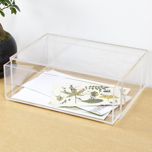 2018 hot new products eco friendly acrylic desk organizer with drawer