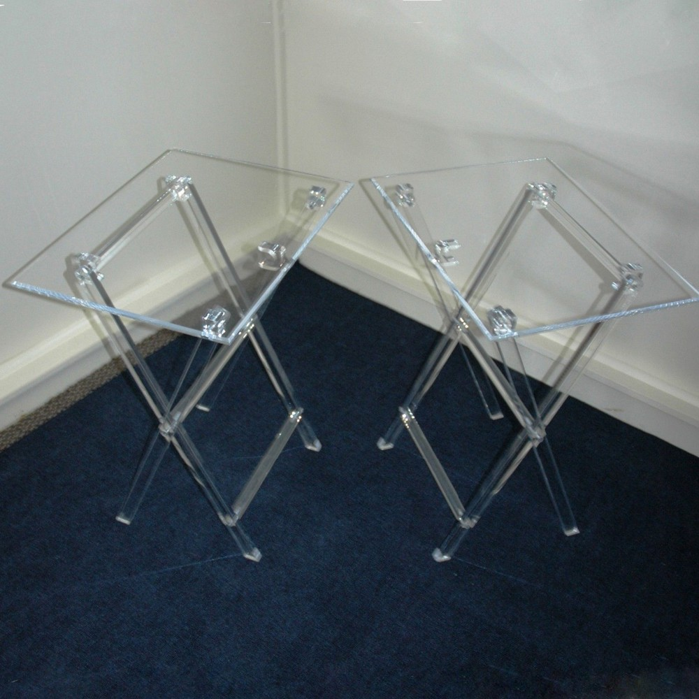 Clear Acrylic Folding Tv Tray Table Tv Stand Snack Tray