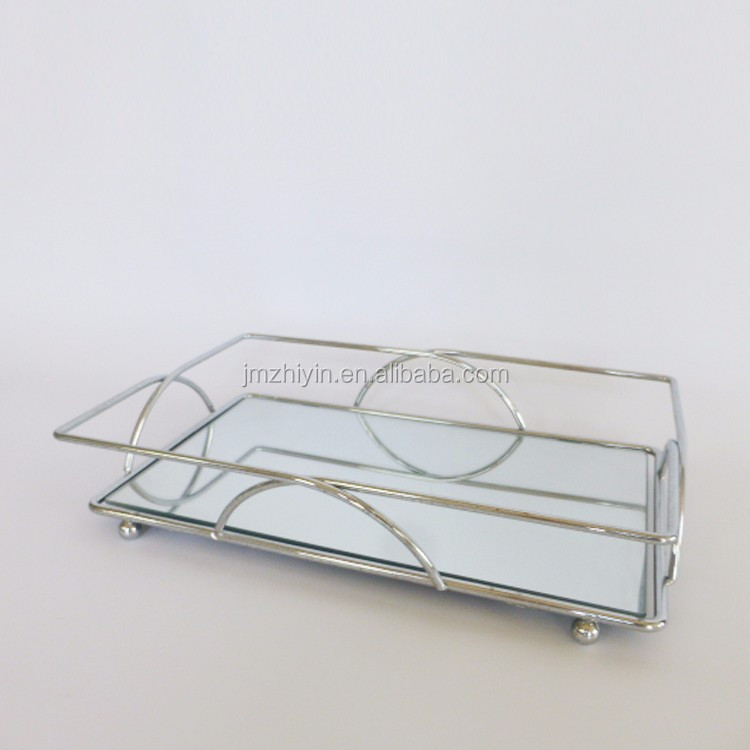 Rechthoekige Mirrored Glas Decoratieve Badkamer Dressoir Top ...