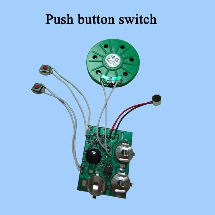Greeting card sound module for music box card